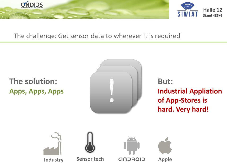 Apps! But: Industrial Appliation of