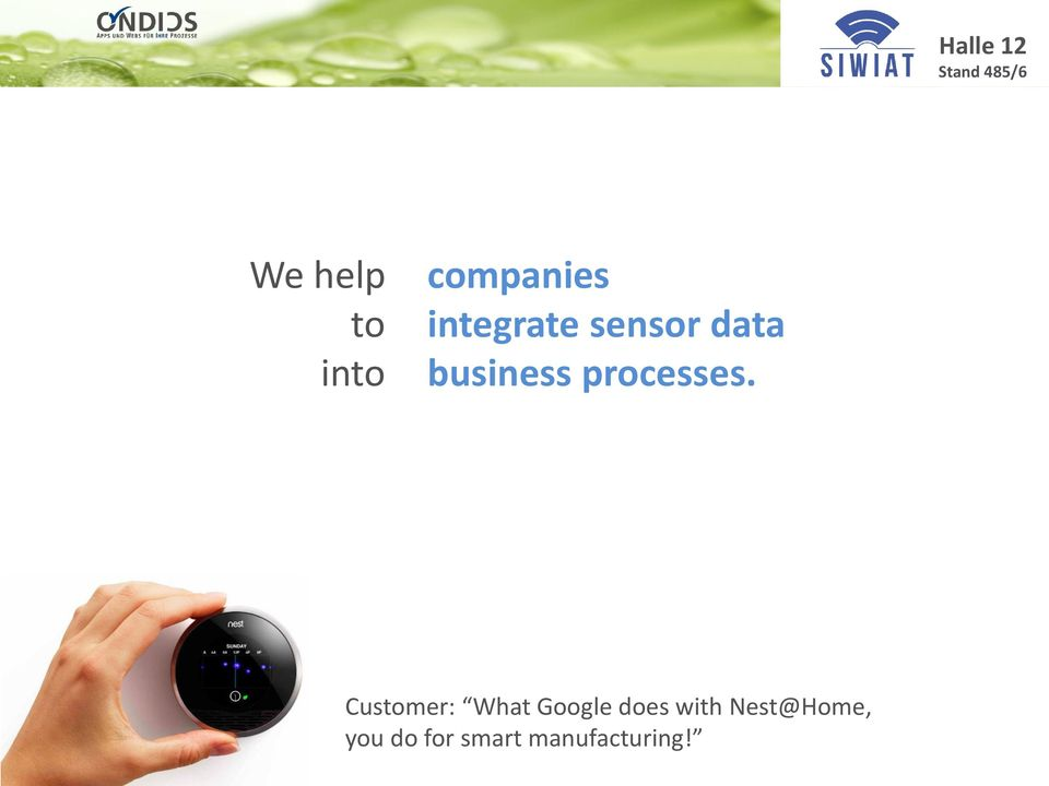 Customer: What Google does with