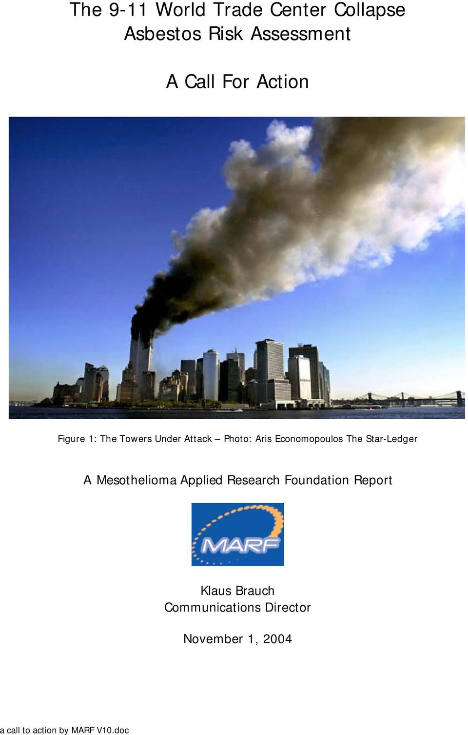 Star-Ledger A Mesothelioma Applied Research Foundation Report Klaus