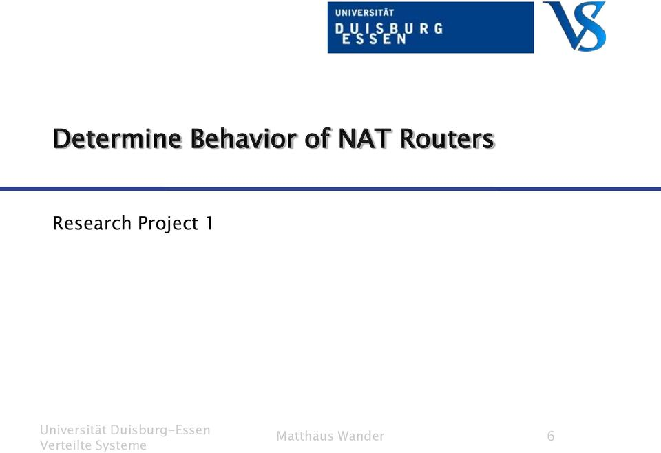 Routers Research