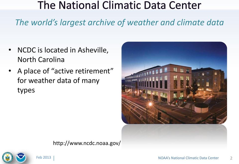 place of active retirement for weather data of many