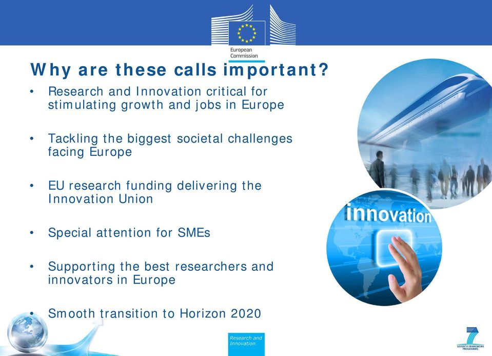 Tackling the biggest societal challenges facing Europe EU research funding