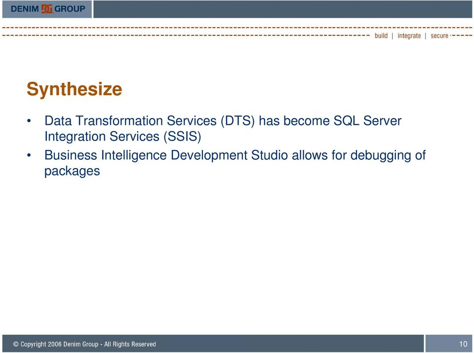 Services (SSIS) Business Intelligence