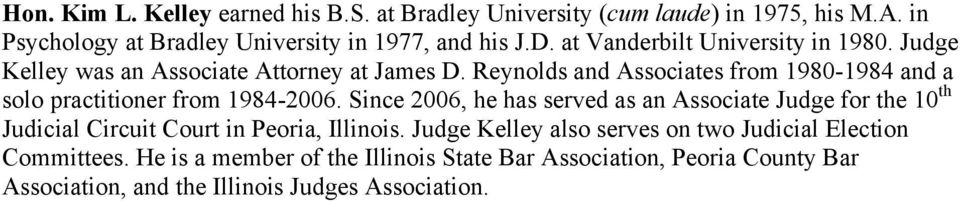 Reynolds and Associates from 1980-1984 and a solo practitioner from 1984-2006.
