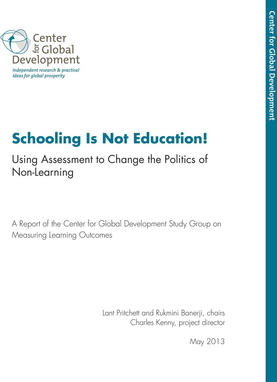 Center for Global Development Study Group on Measuring Learning