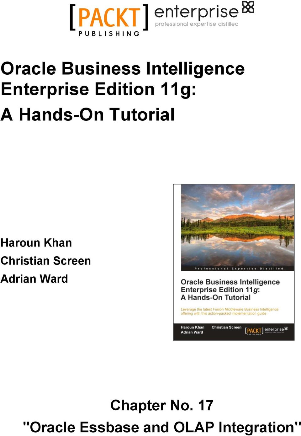 Oracle Business Intelligence Enterprise Edition 11g: A Hands