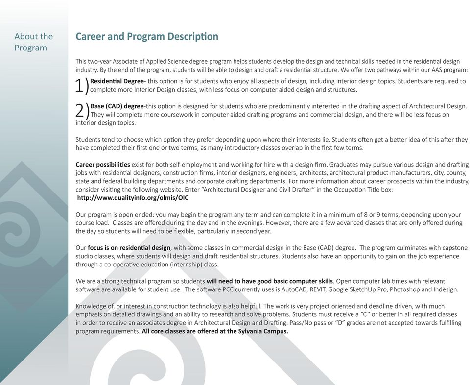 We offer two pathways within our AAS program: Residential Degree- this option is for students who enjoy all aspects of design, including interior design topics.