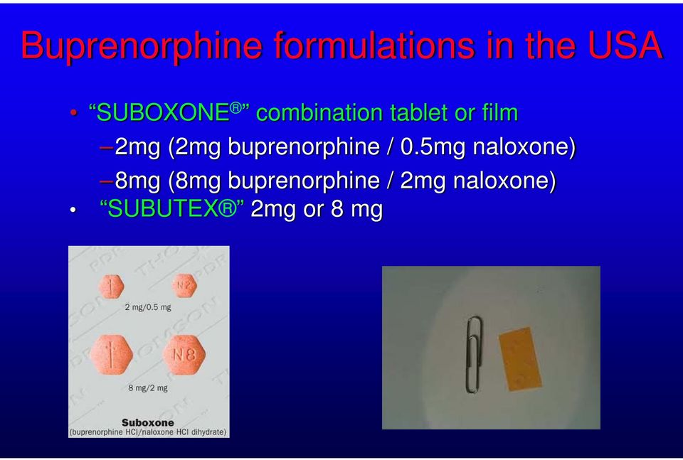 (2mg buprenorphine / 0.