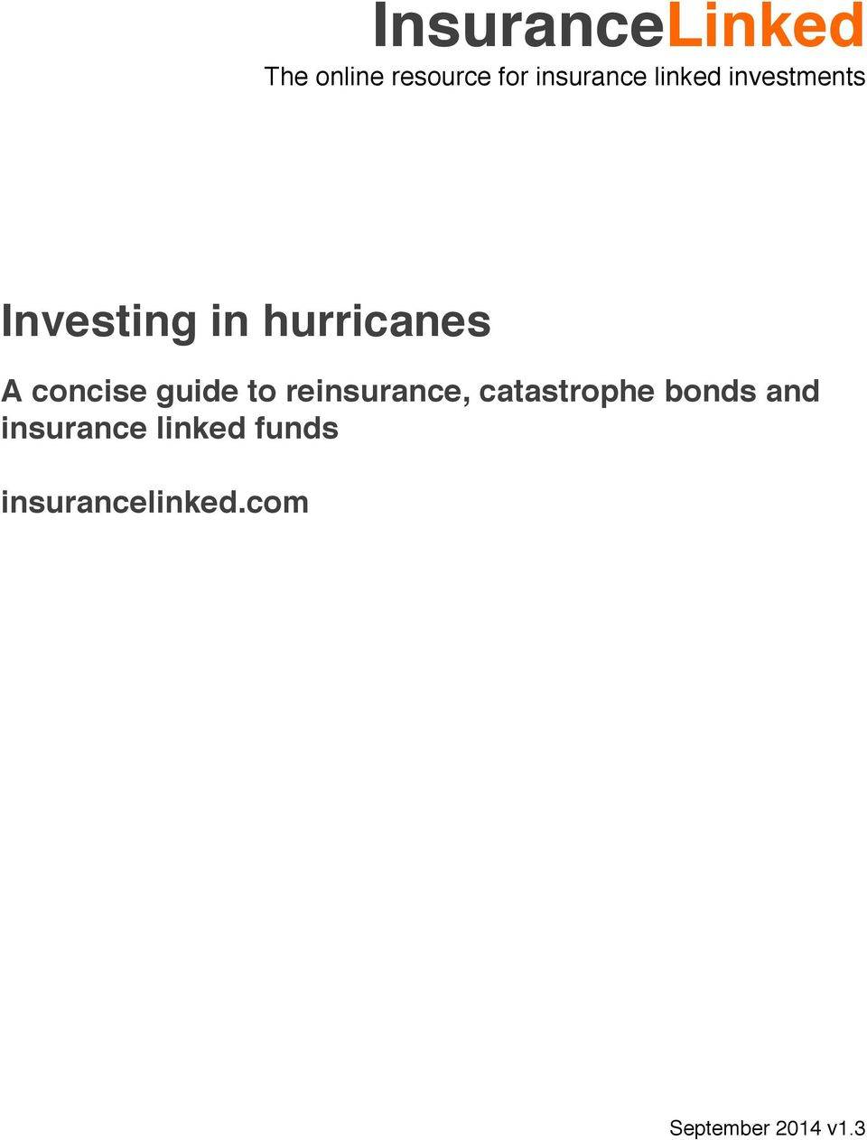 concise guide to reinsurance, catastrophe