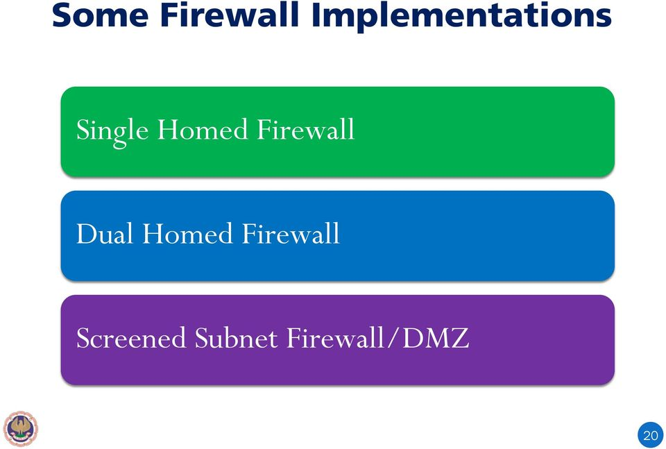 Homed Firewall Dual Homed