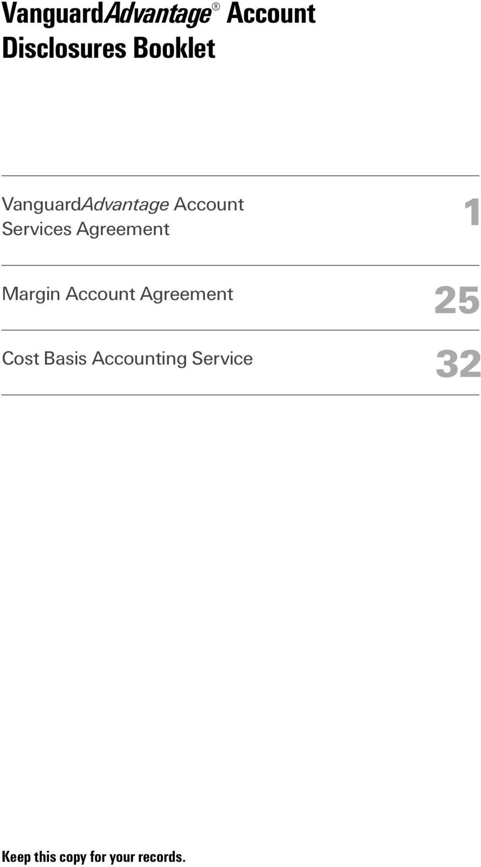 Margin Account Agreement Cost Basis Accounting