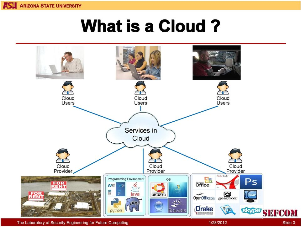 Users Services in Cloud Cloud