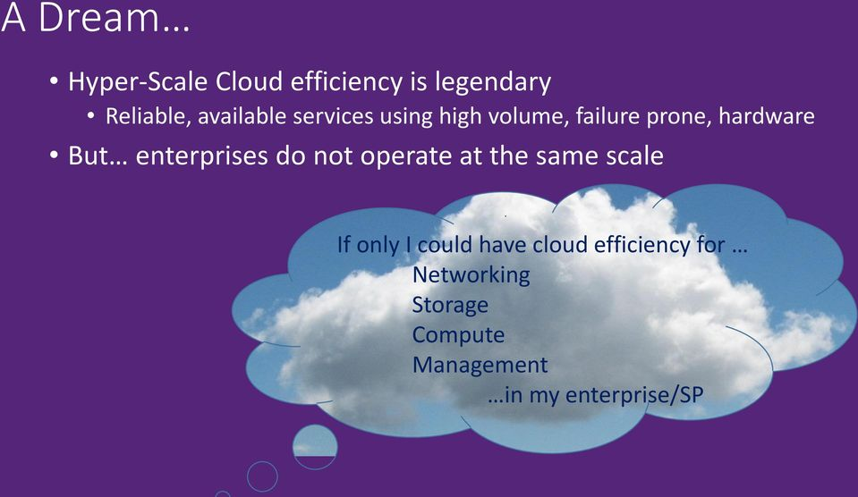 enterprises do not operate at the same scale If only I could have