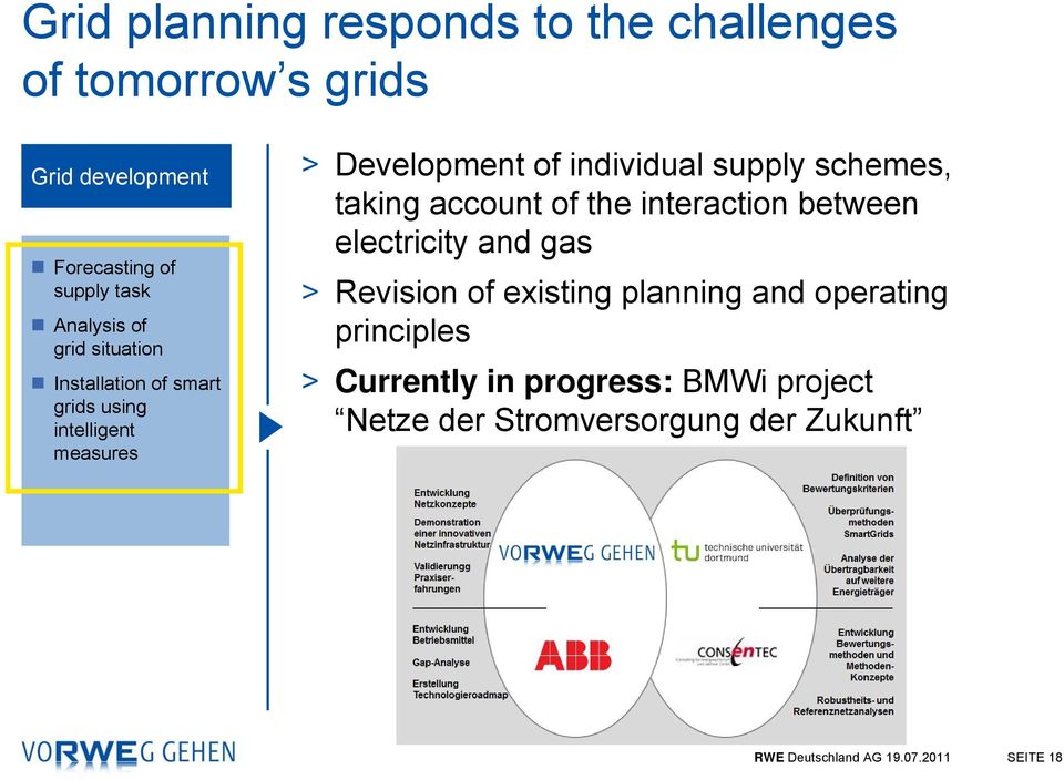 schemes, taking account of the interaction between electricity and gas > Revision of existing planning and