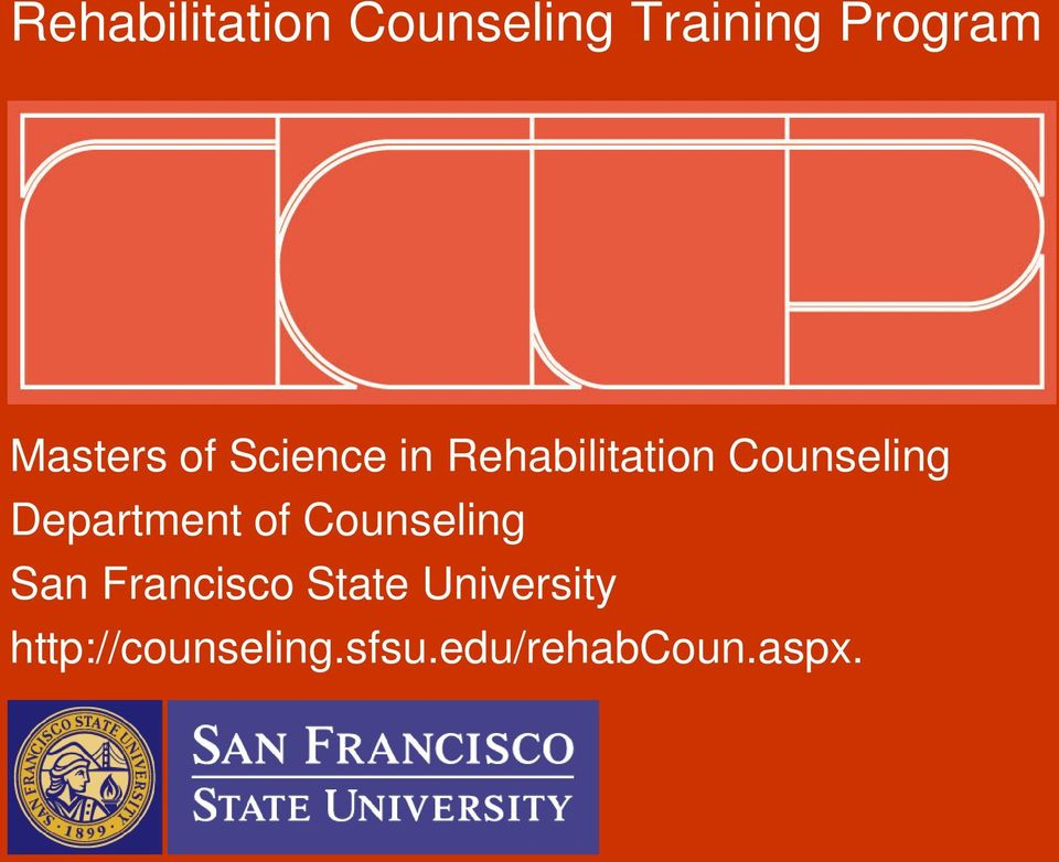 Department of Counseling San Francisco State