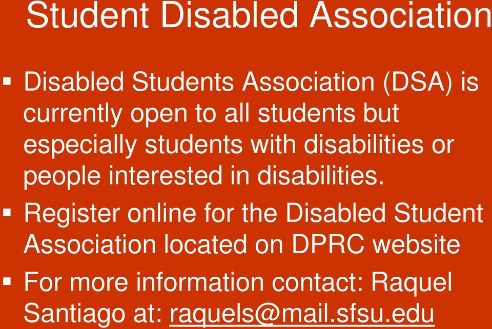 interested in disabilities.