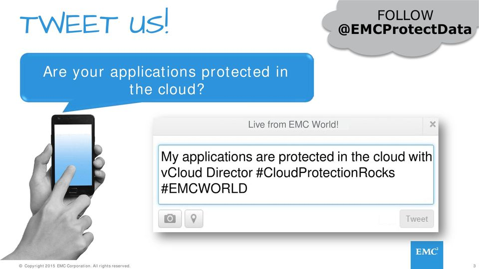 My applications are protected in the cloud with vcloud