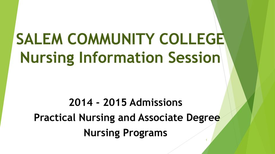 Admissions Practical Nursing and