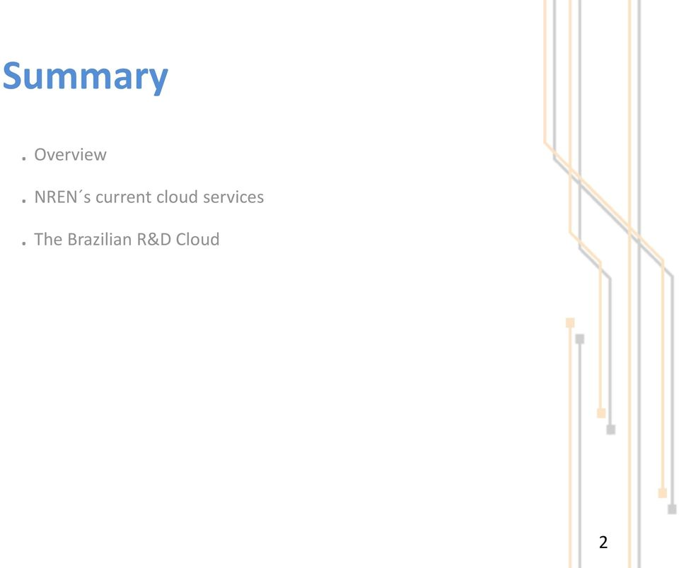 cloud services.