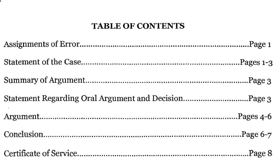 .. Page 3 Statement Regarding Oral Argument and Decision.