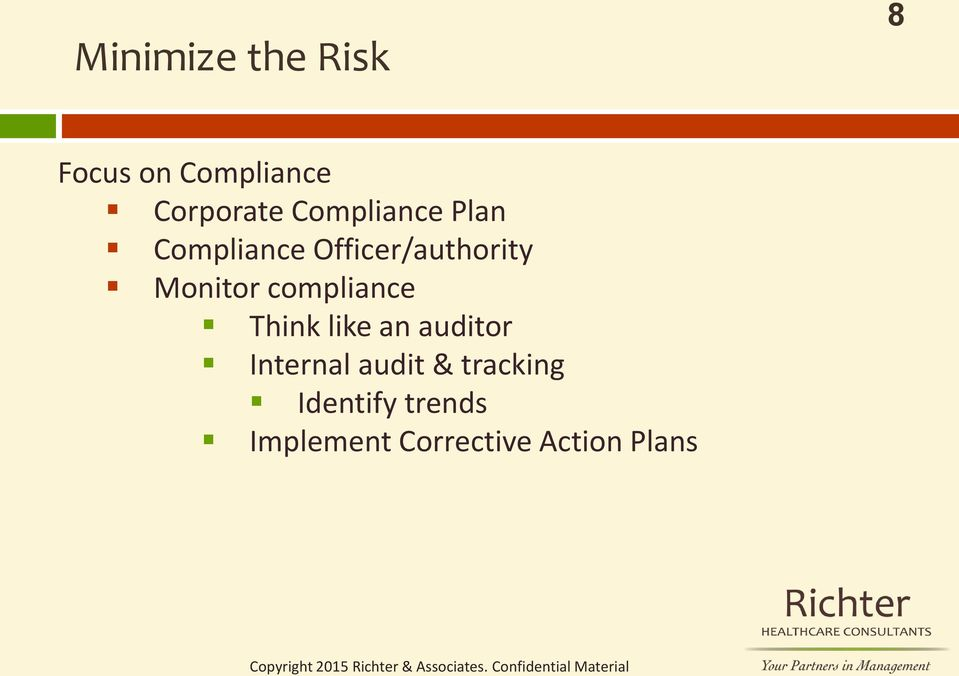 compliance Think like an auditor Internal audit &