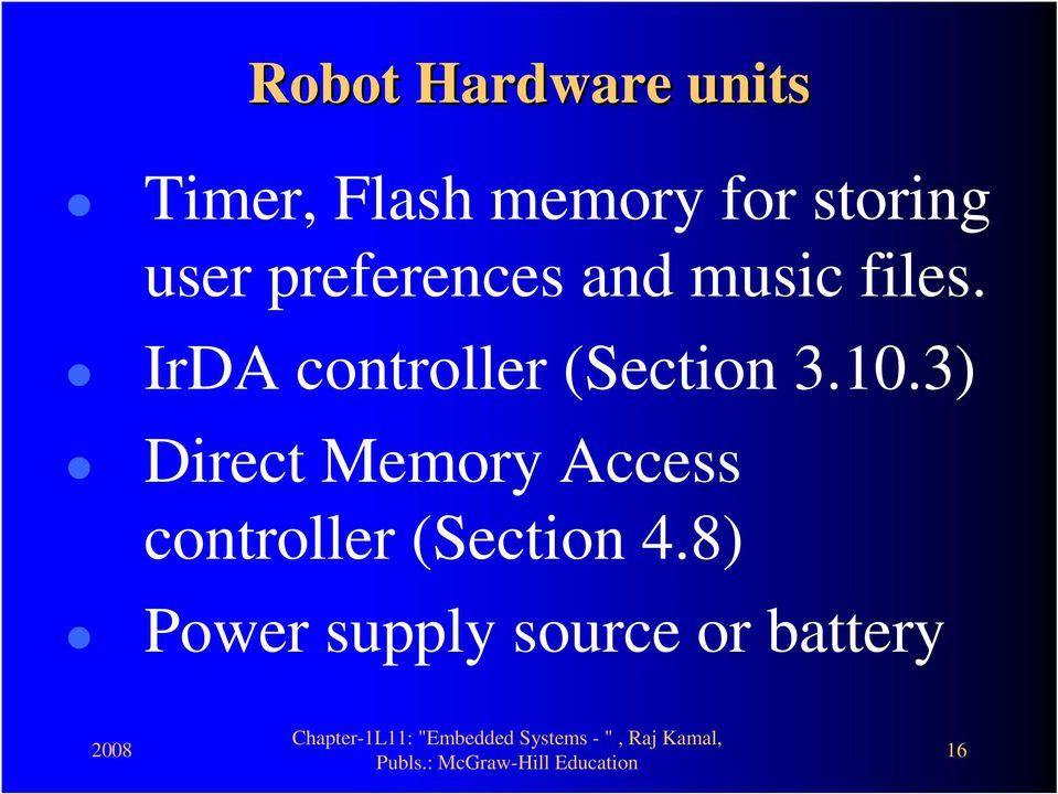 IrDA controller (Section 3.10.