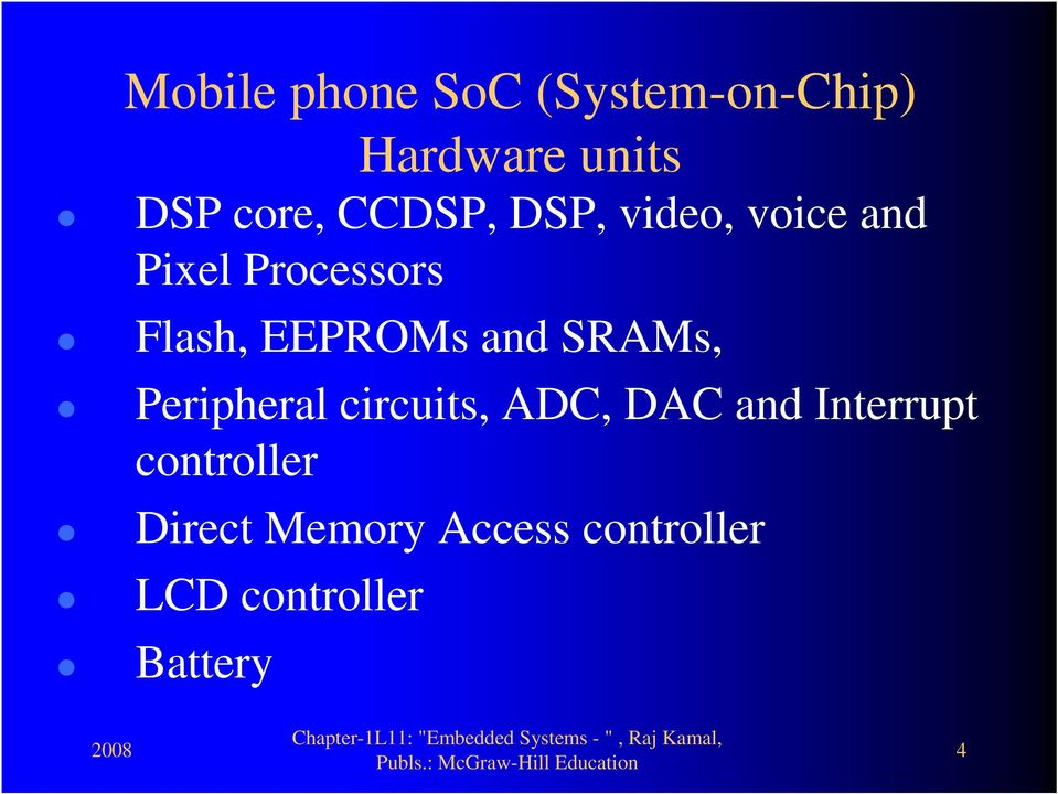 and SRAMs, Peripheral circuits, ADC, DAC and Interrupt