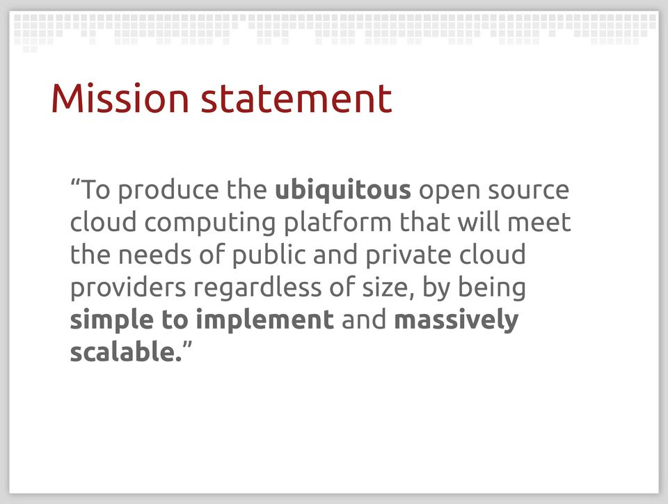 needs of public and private cloud providers