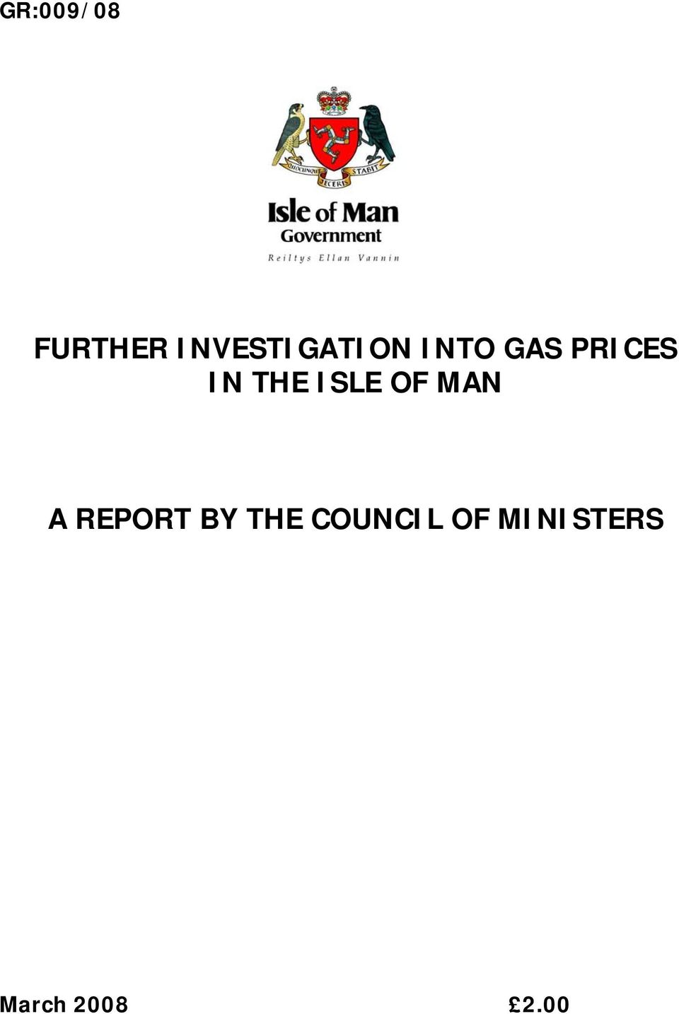 IN THE ISLE OF MAN A REPORT