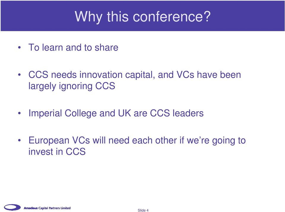 VCs have been largely ignoring CCS Imperial College and