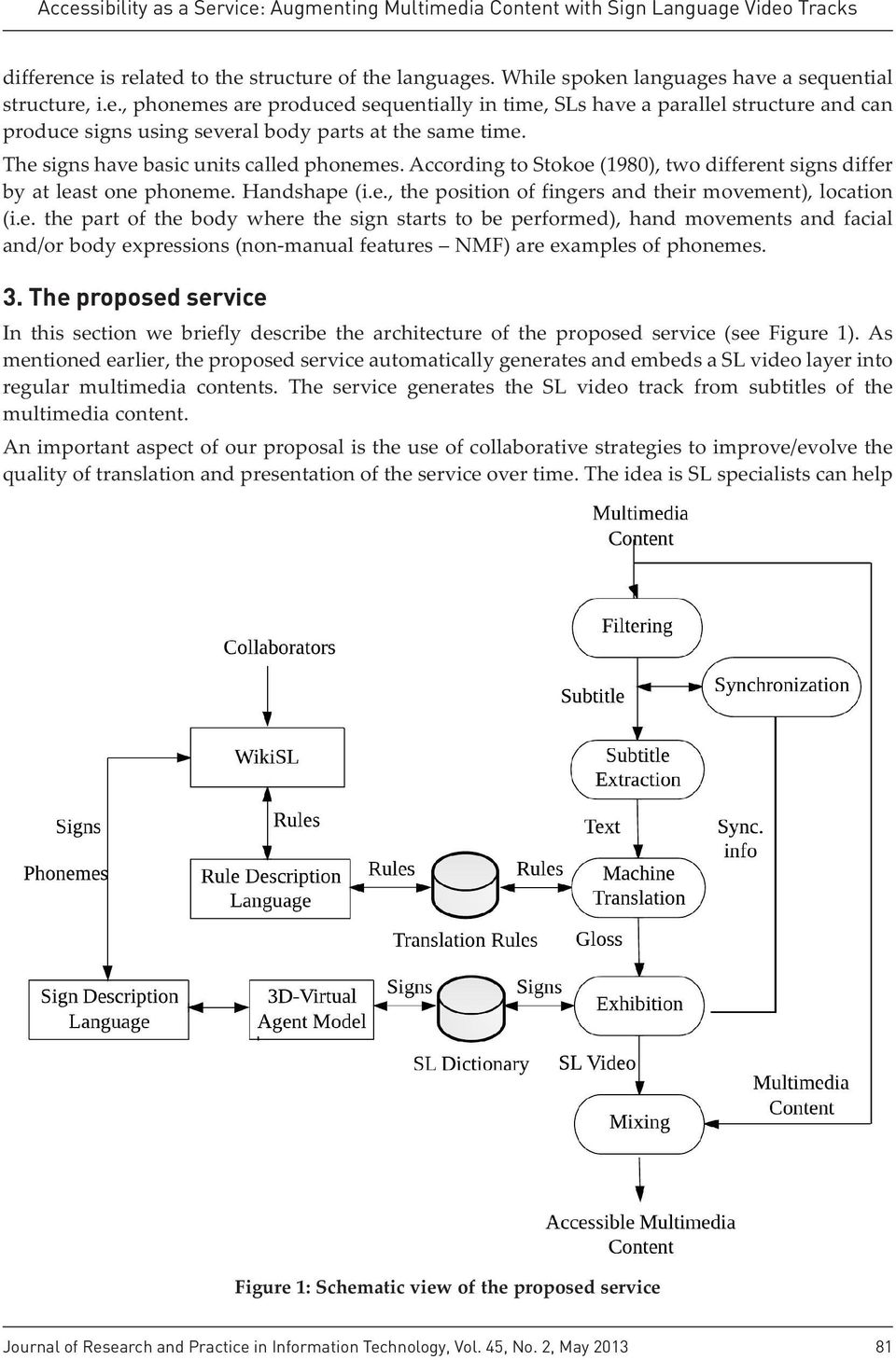 3. The proposed service In this section we briefly describe the architecture of the proposed service (see Figure 1).