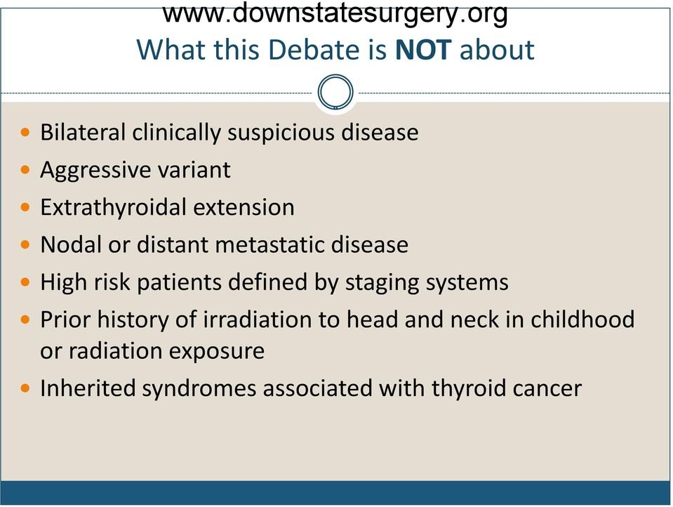 patients defined by staging systems Prior history of irradiation to head and neck