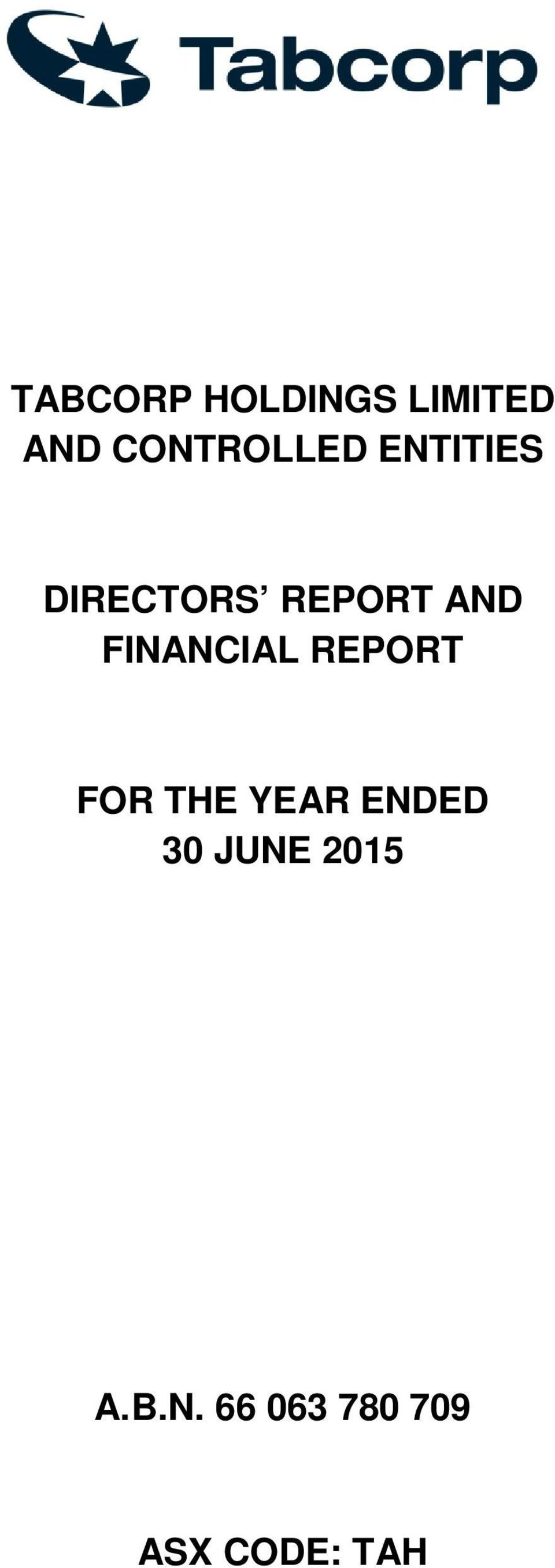 AND FINANCIAL REPORT FOR THE YEAR