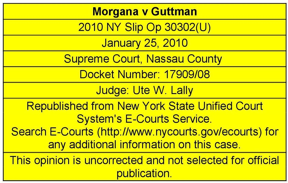 Lally Republished from New York State Unified Court System's E-Courts Service.