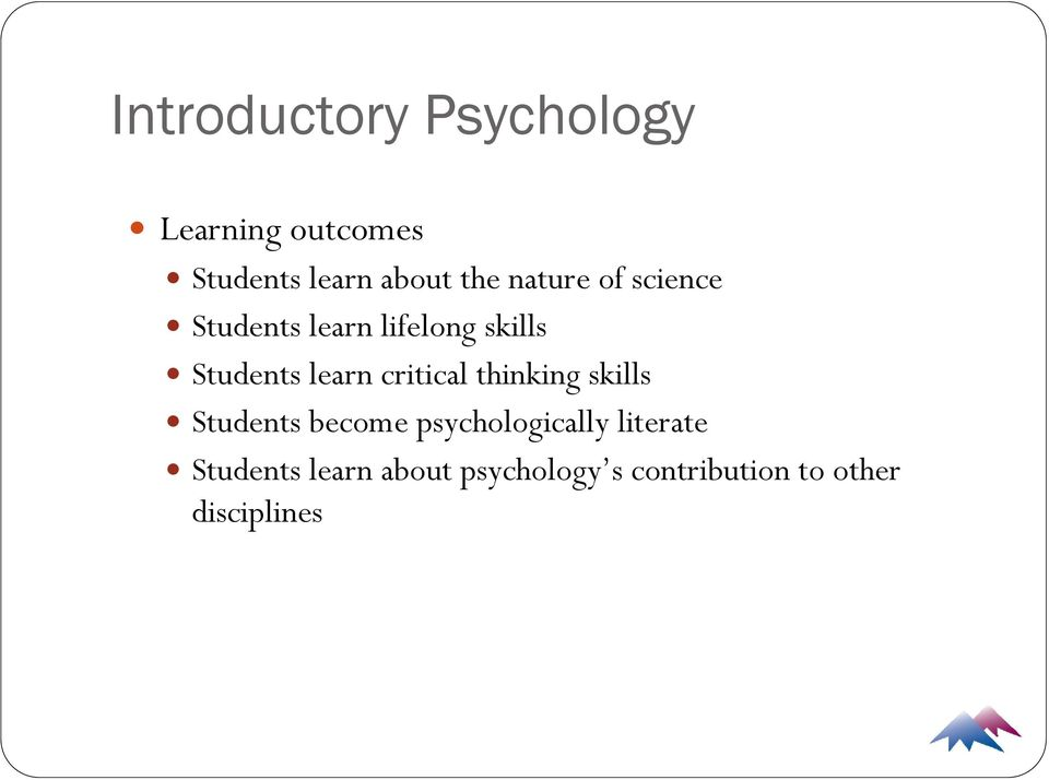 learn critical thinking skills Students become psychologically