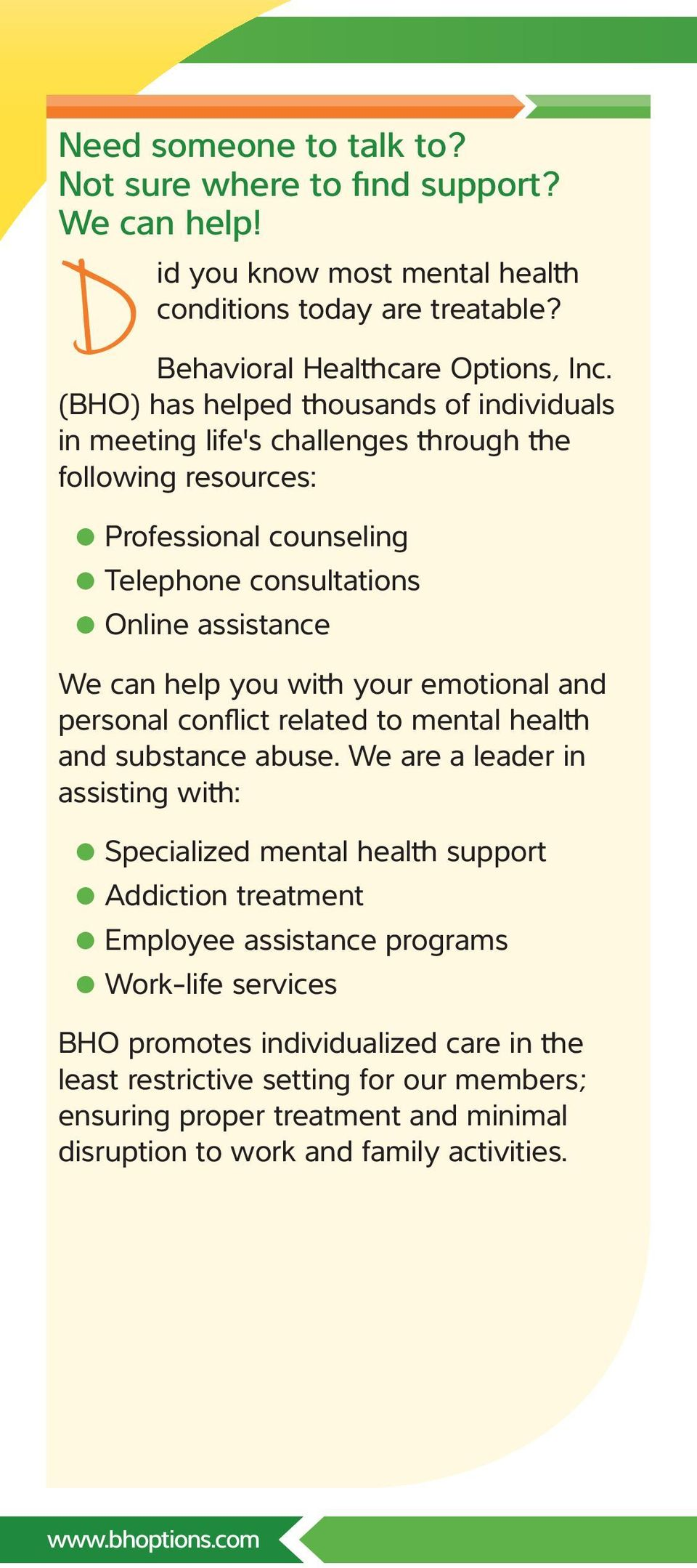 your emotional and personal conflict related to mental health and substance abuse.