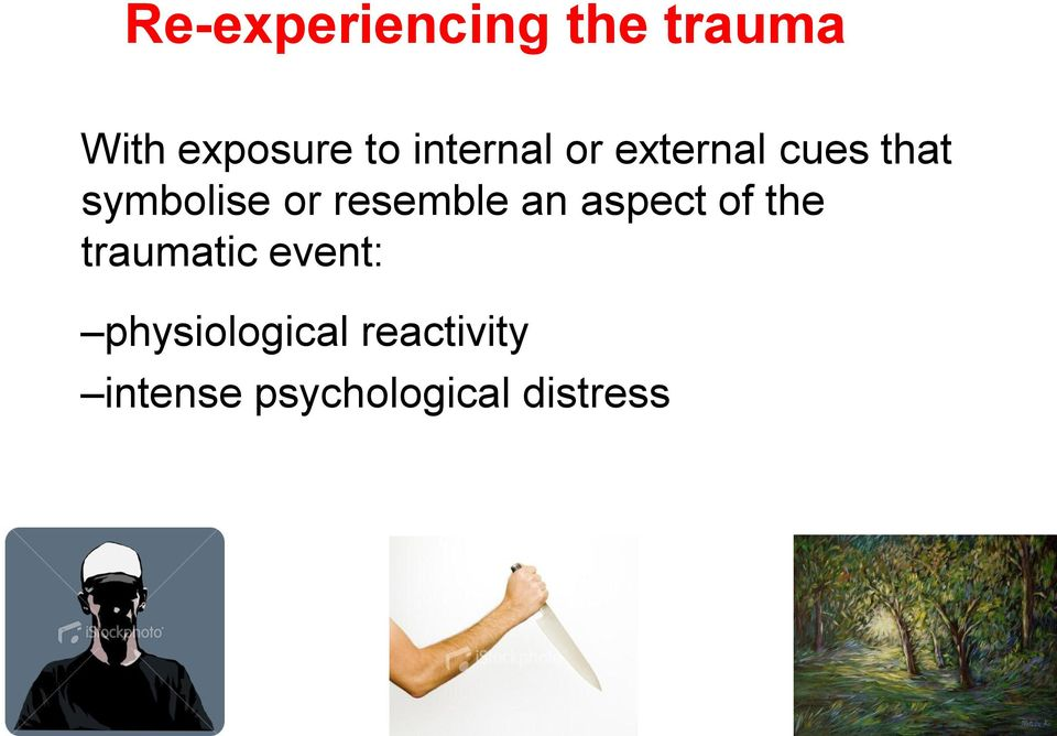 resemble an aspect of the traumatic event: