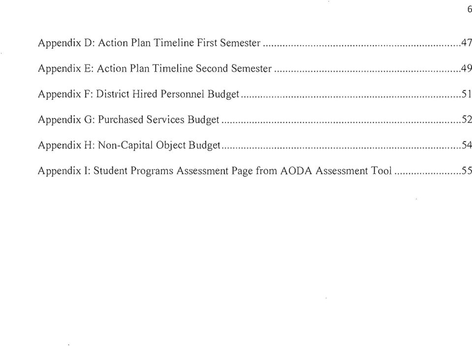 ..49 Appendix F: District Hired Personnel Budget.