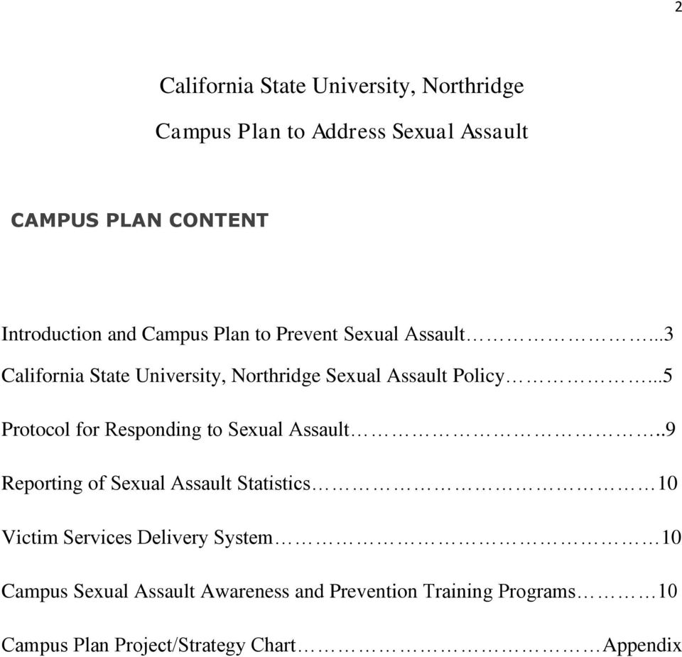 ..5 Protocol for Responding to Sexual Assault.