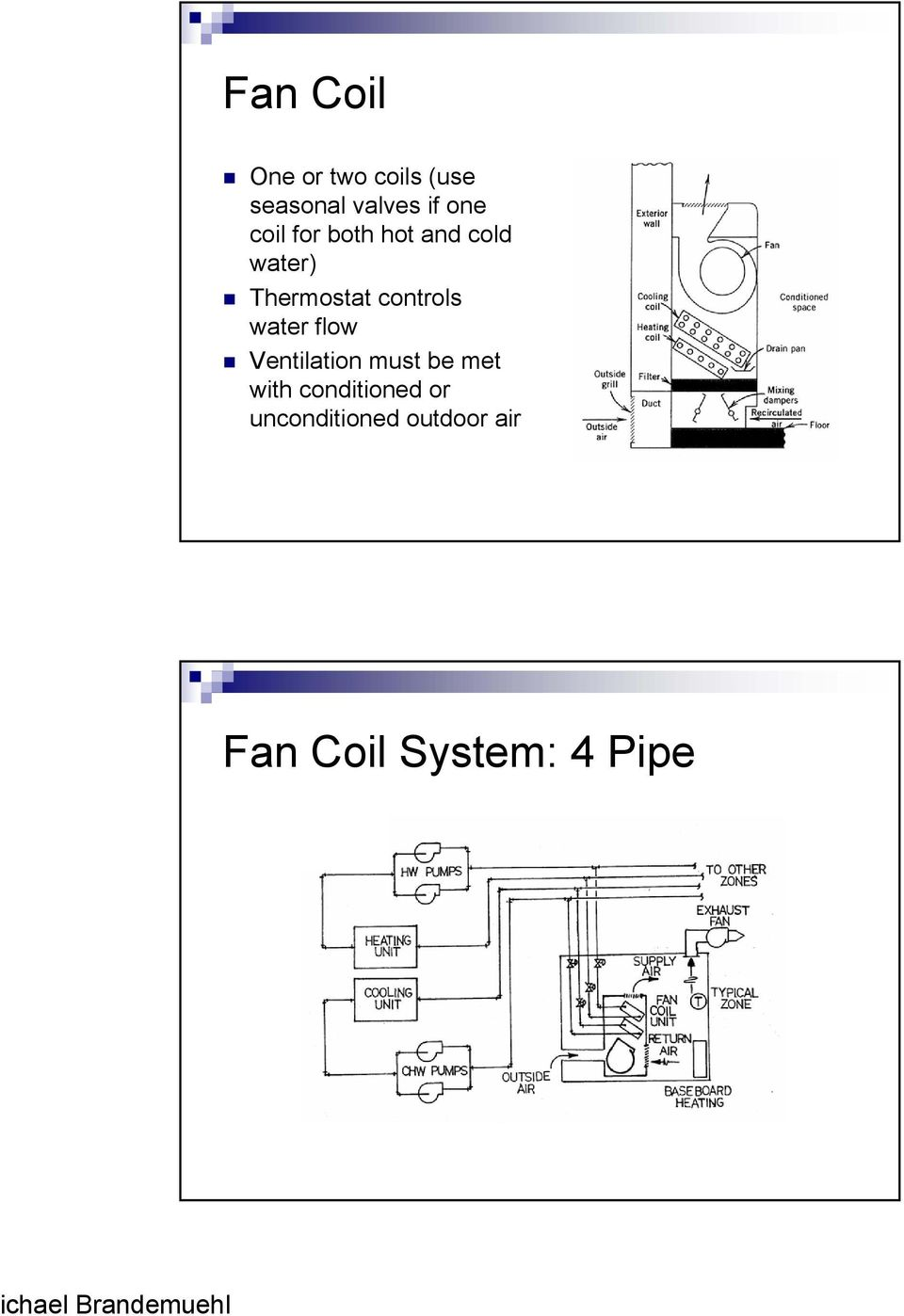 controls water flow Ventilation must be met with