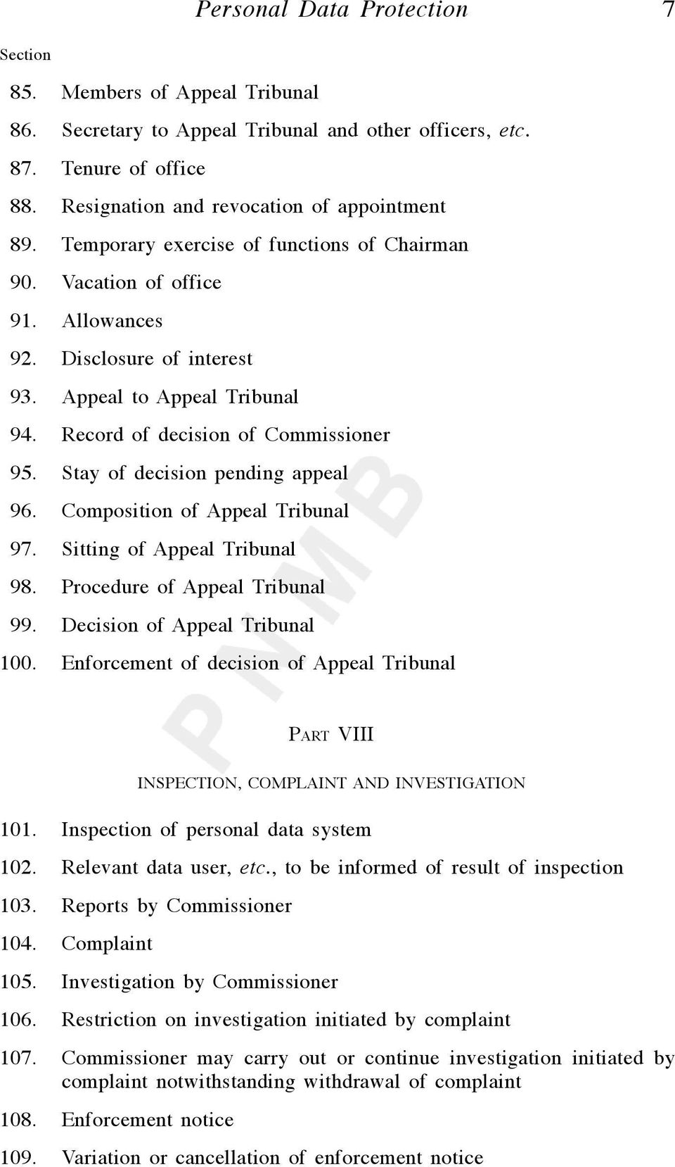 Stay of decision pending appeal 96. Composition of Appeal Tribunal 97. Sitting of Appeal Tribunal 98. Procedure of Appeal Tribunal 99. Decision of Appeal Tribunal 100.