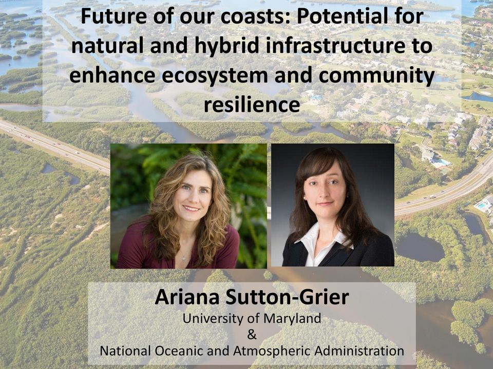 community resilience Ariana Sutton-Grier University