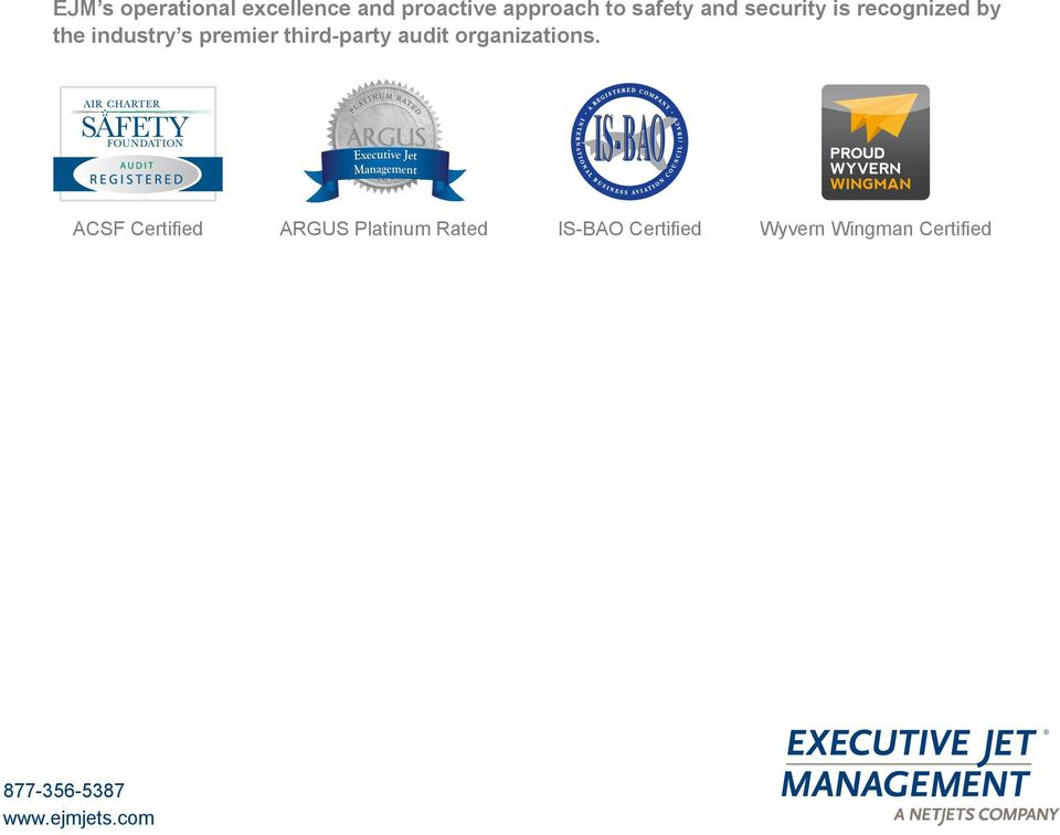 third-party audit organizations.