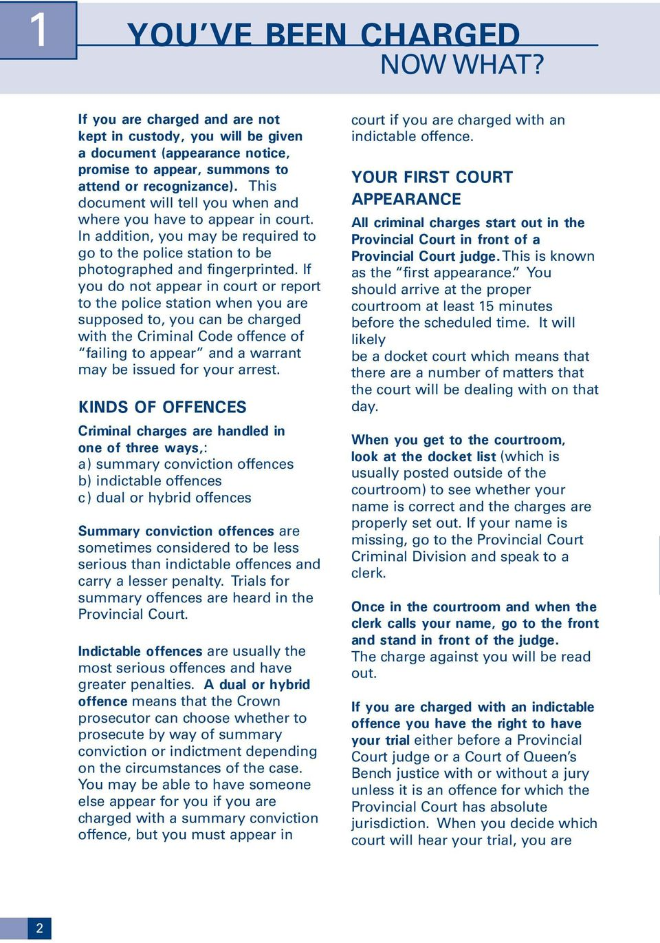 If you do not appear in court or report to the police station when you are supposed to, you can be charged with the Criminal Code offence of failing to appear and a warrant may be issued for your