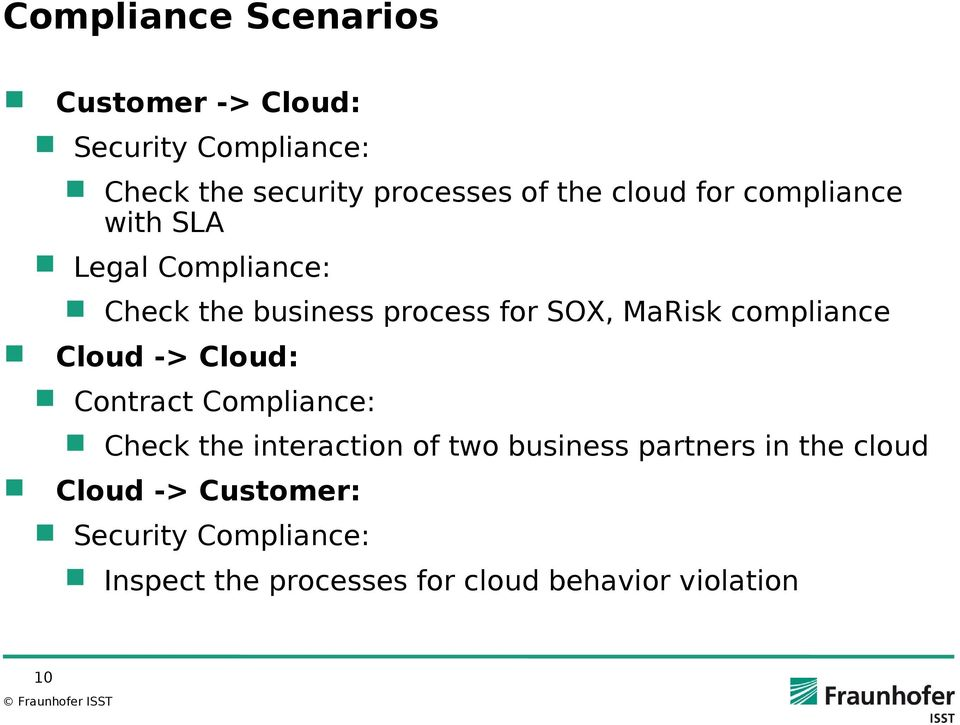 compliance Cloud -> Cloud: Contract Compliance: Check the interaction of two business partners in