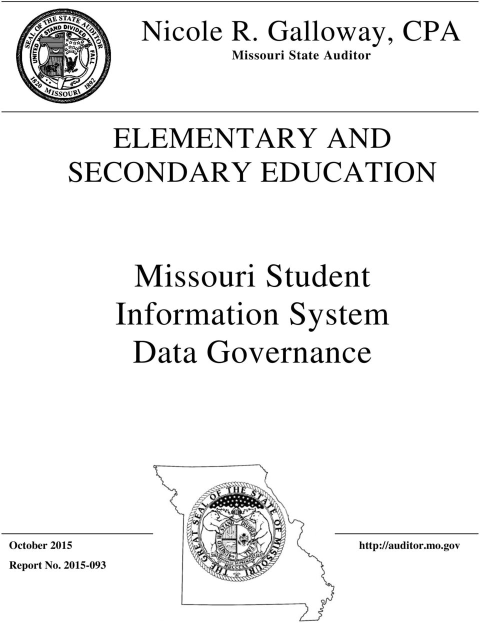 ELEMENTARY AND SECONDARY EDUCATION Missouri