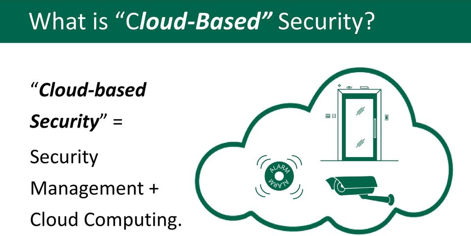 Cloud-based Security =