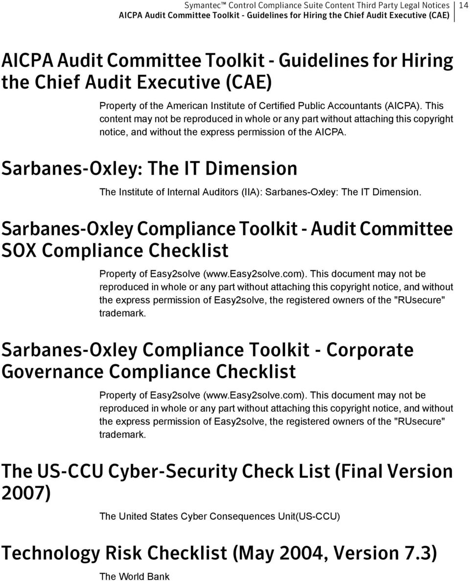 Sarbanes-Oxley: The IT Dimension The Institute of Internal Auditors (IIA): Sarbanes-Oxley: The IT Dimension.