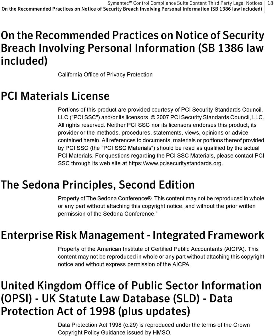 and/or its licensors. 2007 PCI Security Standards Council, LLC. All rights reserved.