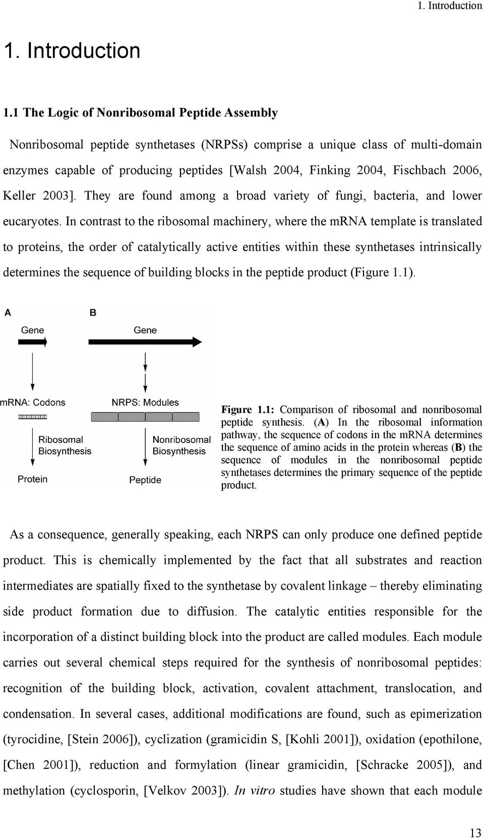 1 The Logic of Nonribosomal Peptide Assembly Nonribosomal peptide synthetases (NRPSs) comprise a unique class of multi-domain enzymes capable of producing peptides [Walsh 2004, Finking 2004,